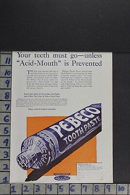 1920 Pebeco Toothpaste Dentistry Lehn Fink Medical Health Ny  Ad Zl007