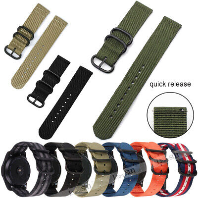 Soft Nylon Watch Band Sport Strap For Samsung Gear S2 S3/Fossil/Huawei18 20 22mm
