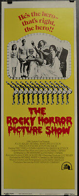 Rocky Horror Picture Show 1975 Orig 14x36 Movie Poster Tim Curry Susan Sarandon