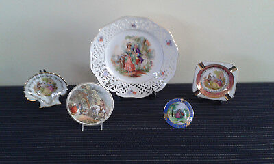 collection of ornamental plates
