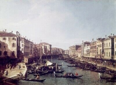 Grand Canal  Venice   Canaletto(1697-1768 Italian)  Poster Print (24 x 36)
