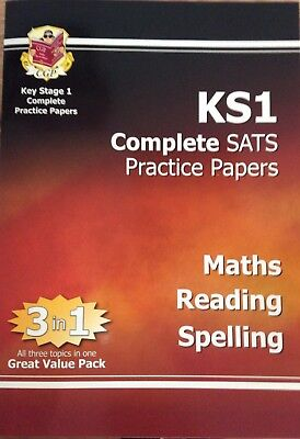 CGP KS1 SATS Practice Papers Maths Reading Spelling *Incomplete*
