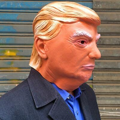 Realistic Cosplay Latex Adult Mask Donald Trump Funny Halloween Face Head Mask