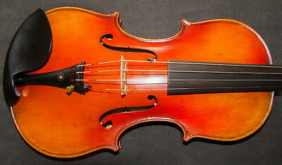 Outstanding 'Leduc' Guarneri 1745 model violin - Deep Strong Sonorous Sound