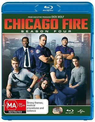 Chicago Fire : Season 4 (Blu-ray, 2017, 6-Disc Set) Brand New and Sealed