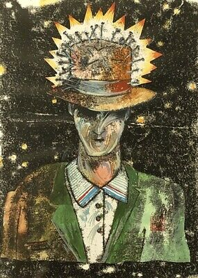 """Original Mixed Media by Chris Grosz (NZ) """"Old Model"""" From The Manhood Show"""