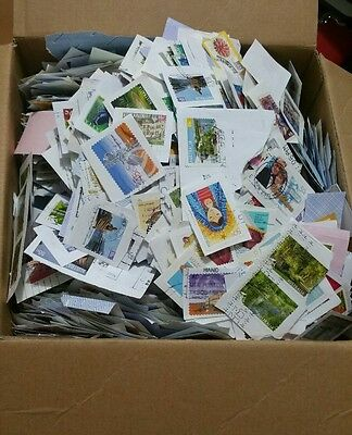450 gr  All Stamped Used Australian Stamps On Papers Bulk (kiloware)*