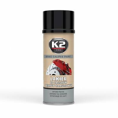 K2 Brake Caliper Paint 400 Ml Black - Bremssattellack Spray Schwarz (12,88 €/1L)