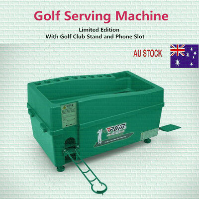 Automatic Golf Ball Dispenser with Club Stands, Golf Serving Machine,Golf Box