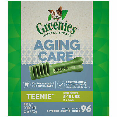 Greenies Aging Care Teenie Size Dental Dog Treats, 27 oz., Count of 96