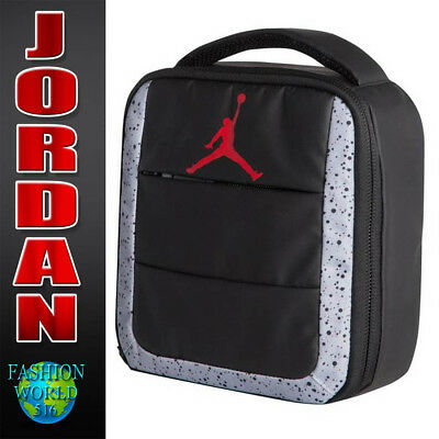1993c68e786b Nike Air Jordan All World Lunch Box Bag Tote Insulated 9A1728 Black Grey Red