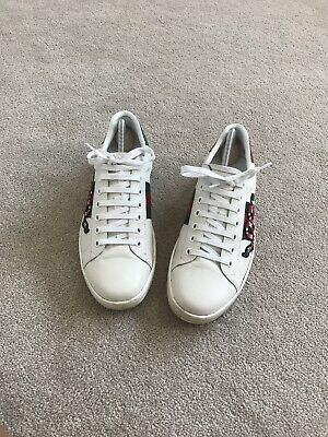 0d9ffde3514 GUCCI ACE SNAKE Stripe Trainers Shoes Uk 9 - EUR 278