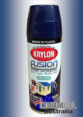 Krylon Fusion Plastic Paint 340gm - Navy Gloss - AUS Seller