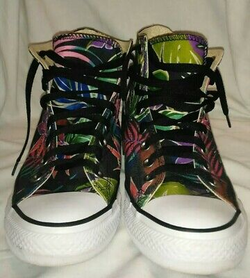 Converse All Star Chuck Taylor High Top Floral Shoes Mens Size 8 Womens 10  EUC 7d614d9c6