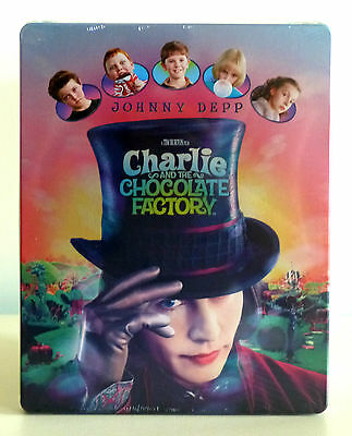 Charlie and the Chocolate Factory (Japan Limited Edition Steelbook) Blu Ray, New