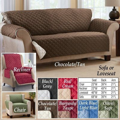 Reversible Protectors Cover Quilted Chair Sofa Recliner Loveseat Patio Furniture