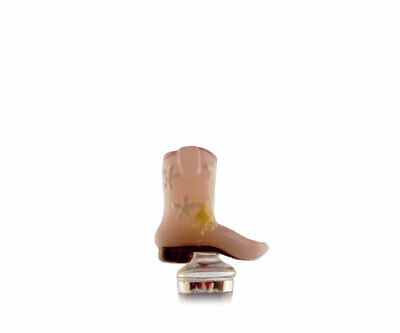 Collectible Blown Glass Creatures Bottle Stopper - Boot Pink   - 14506