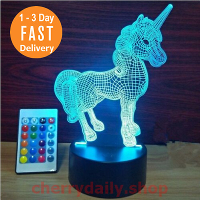 Home & Garden Night Lights Fast Deliver Luces Led De Unicornio Dormitorio Luz Blanca Decoracion Hogar Pooqla Cabeza New