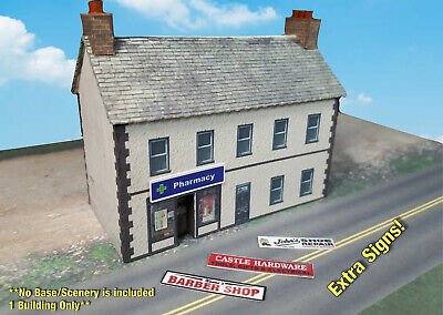 N Scale Building - House w/storefront (Cover Stock PRE-CUT Paper Kit) BIN1