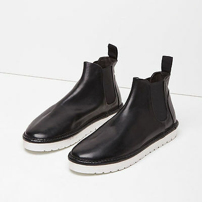 dd499dd00f893 Marsèll Gomma Sancrispa Alta Leather Chelsea Boots in Black Size 38