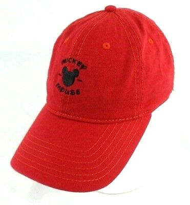 491725a8ff8 Mickey Mouse Dad Hat Baseball Cap Red Adjustable Strapback OSFM Adult