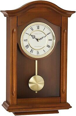 London Clock wooden pendulum wall clock with Westminster and whittington chimes
