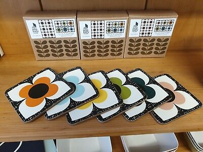 Orla Kiely Scribble Square Flowers Coasters - Set of 6