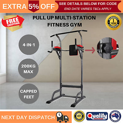 Pull Up Fitness Station Tower Power Stand Dip Bar Exercise Gym Home Equipment