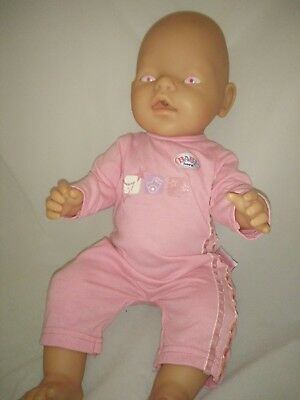 Zapf Creations Original Baby Born Doll with Pink Eyes, Drinks Eats Wets Poos