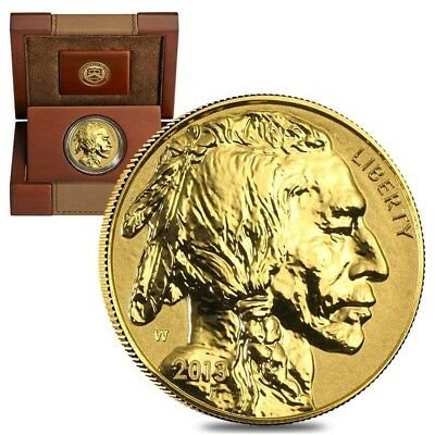 2013 W 1 oz $50 Reverse Proof Gold American Buffalo (w/Box & COA)