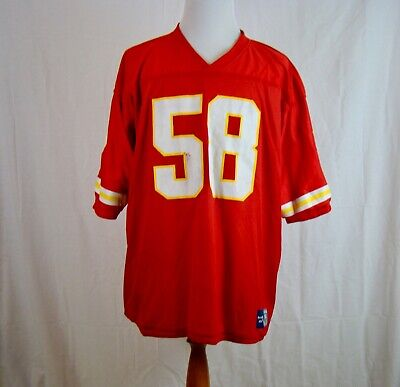 factory price ab142 97286 DERRICK THOMAS #58 Kansas City Chiefs Reebok Reversible NFL Jersey Size 54