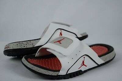 38860d4098e18 NIB Mens Nike Air Jordan Hydro IV Retro Slides 532225 104 sz 11 White Fire  Red