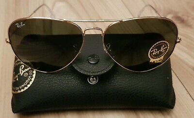44371b7b66cf Ray-Ban Gold Aviator Sunglasses with Green Lenses Rayban RB3025 Unisex  RRP£149