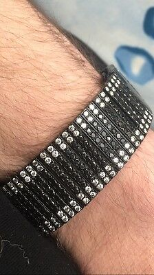 strap to fit BREITLING 16ct BLACK WHITE diamond WATCH BRACELET Avenger Bentley