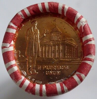 Bank roll of uncirculated 2009 Lincoln Bicentennial pennies. Professional life