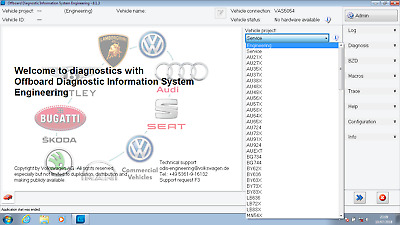 Soft for ODIS Engineering 8.1.3 and VAS5054a. VAG - VW Audi & so. Downloadable