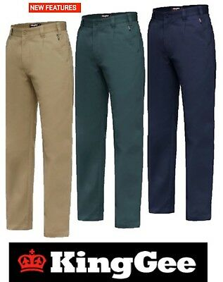 King Gee - Mens Steel Tough Drill Work Pants Trousers - K03010