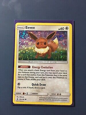 2019 Pokemon General Mills Cereal Promo Card Eevee 101//149 Foil Holo