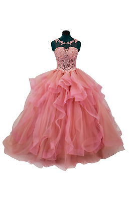 cbcbfda3ddd Sweet 16 Pink Quinceanera Dress 2019 Party Princess Prom Ball Gown NEW