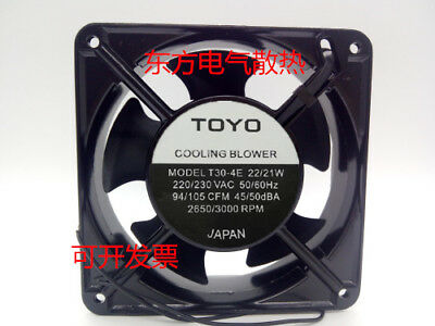 TOYO T30-4E Aluminum AC cooling fan 220/230V 22/21W 120*120*38mm 2pin MF07 QL
