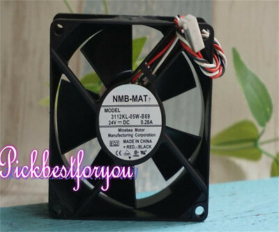 NMB 3112KL-05W-B69 Daul ball cooling fan DC24V 0.28A 80*80*32mm 3pin #MH80 QL