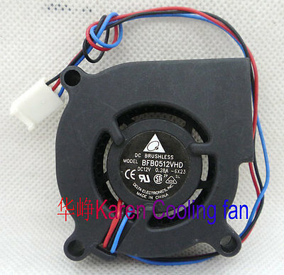 Delta 5020 0.28A BFB0512VHD 5CM 12V turbo fan 3Pin #M2091 QL