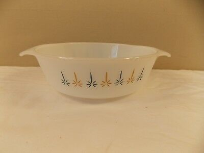 """Anchor Hocking Fire King """"Candle Glow"""" Round Casserole 1 qt"""