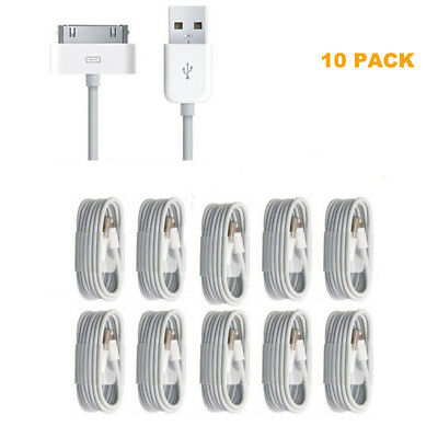 10PCS wall Charger Charging Power Cord Cable for iPhone 4 4s 3gs USB Sync Data