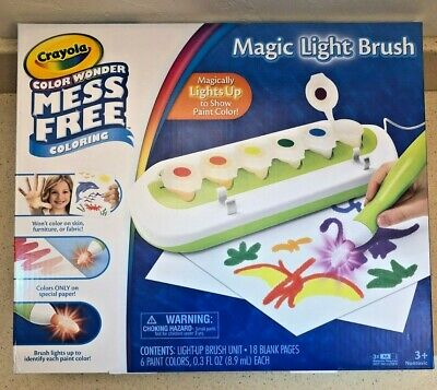 Crayola Color Wonder Magic Light Brush 2 0 Includes Six