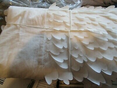 Pottery Barn Kids overlapping  Petal Petals  bedskirt bed skirt  crib New
