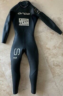 bd3aa5e363 Orca S1 Wetsuit Mens Womens Black Fitted Full Body Cover Speedsuit Rubber  Size 5