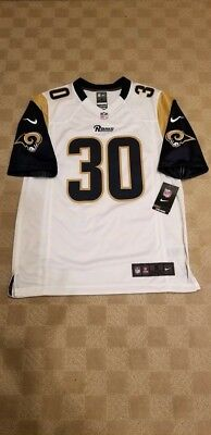 5ece4b430 Nike Todd Gurley Los Angeles Rams White Road On-Field Jersey NWT Mens Size  Small