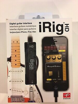 NEW IK Multimedia iRig HD Digital Guitar Interface For iPhone, iPad, Mac