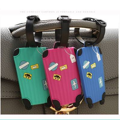 5pcs Luggage Tags Labels Straps Striped Name Address ID Bag Suitcase Travel Tag